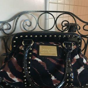 Betsy Johnson tiger studded purse
